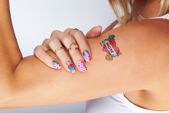 Mom Tattoo Nail Art Design Christina Belle Photography