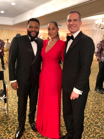 Tracee Ellis Ross, Anthony Anderson, Mayor Eric Garcetti - 'Black-ish'