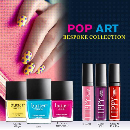 christina belle photography butter london pop art collection lippy and lacquer